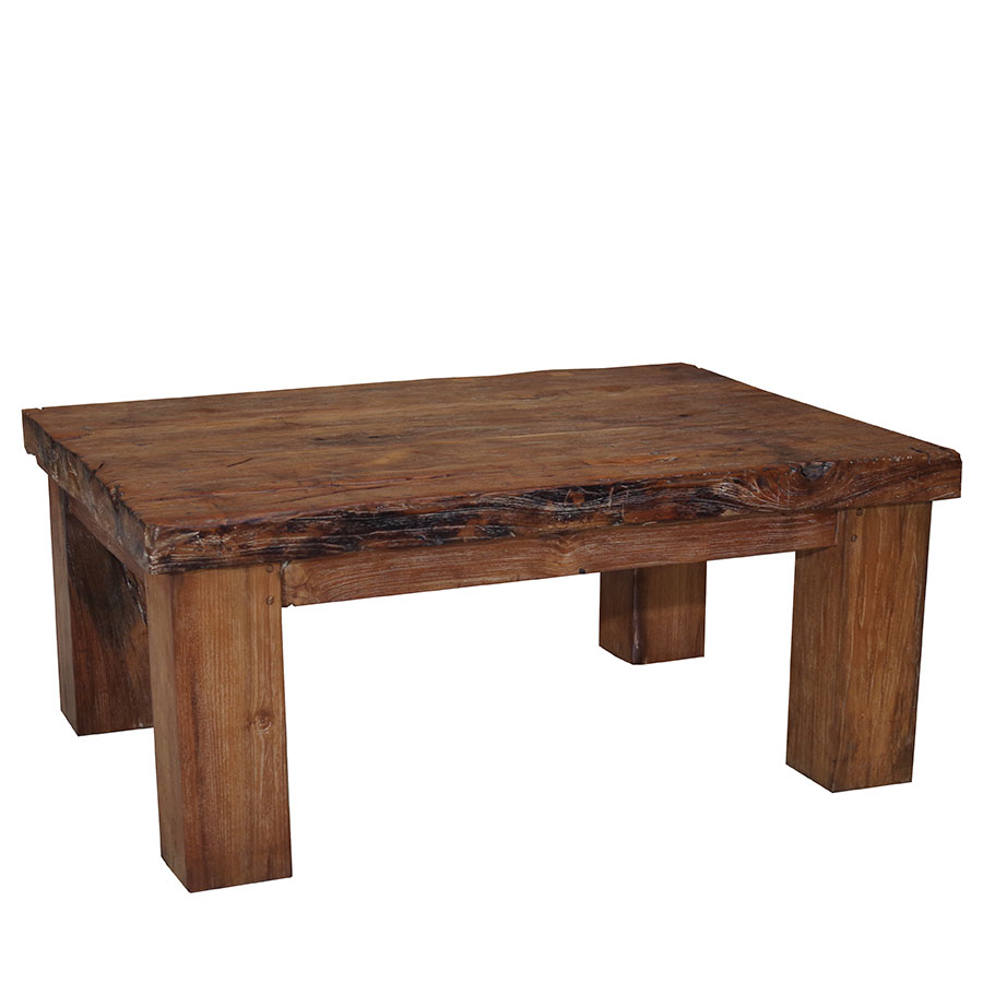 Coffee Table Rectangular Chunky Recycled Teak Lecourts